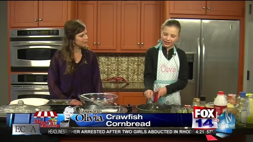 Cooking with Olivia- Crawfish Cornbread-_78654683