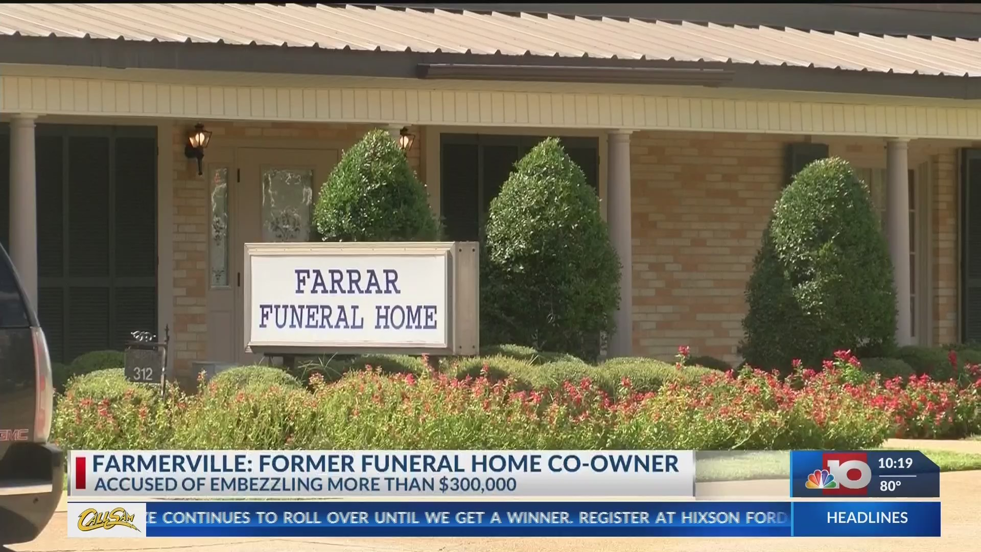 Former funeral home co-owner accused of embezzling over $300K