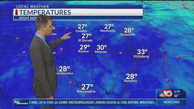 Weather Forecast- Monday, January 21st
