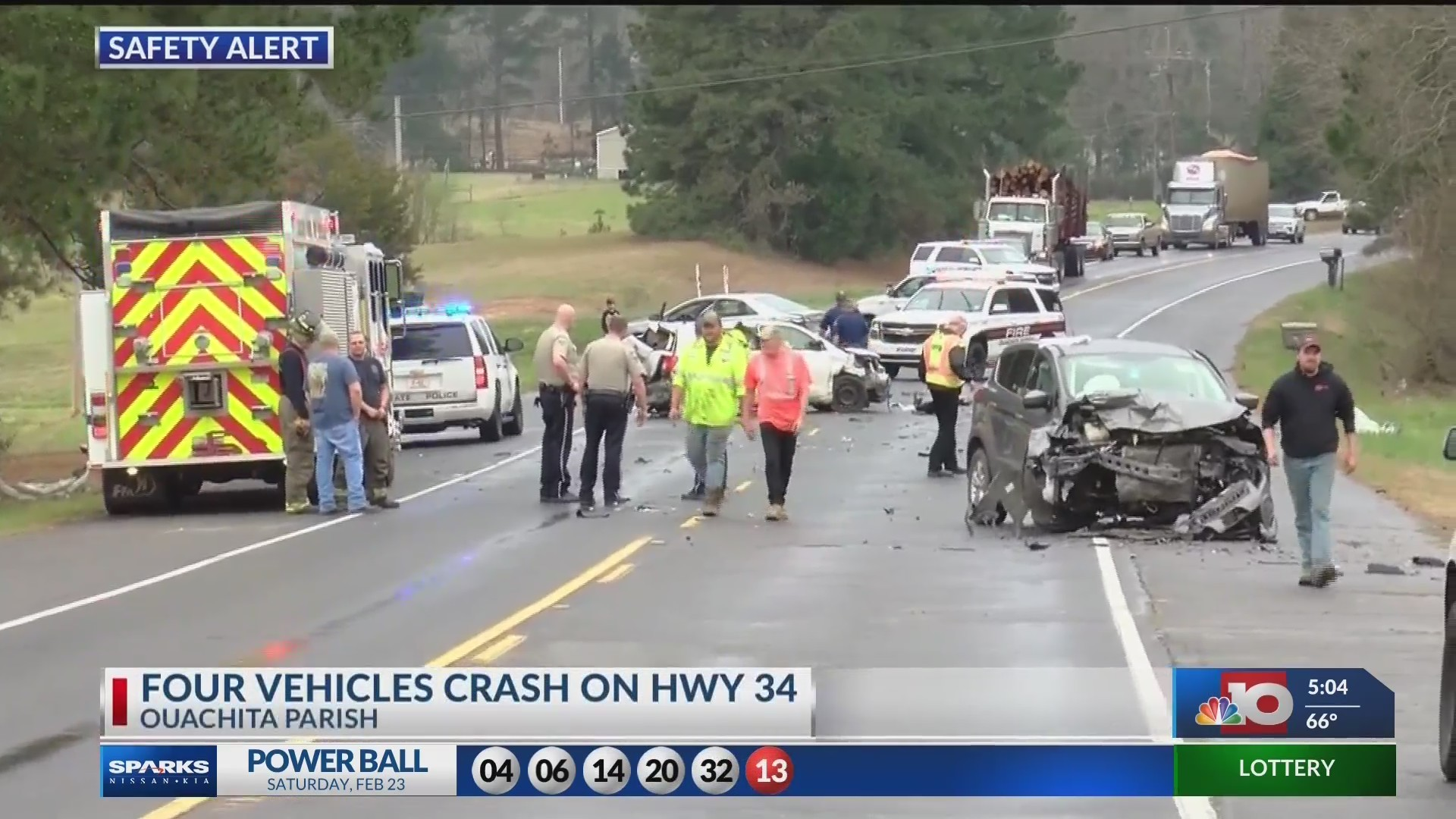 4 vehicles involved in accident on Hwy 34 this afternoon