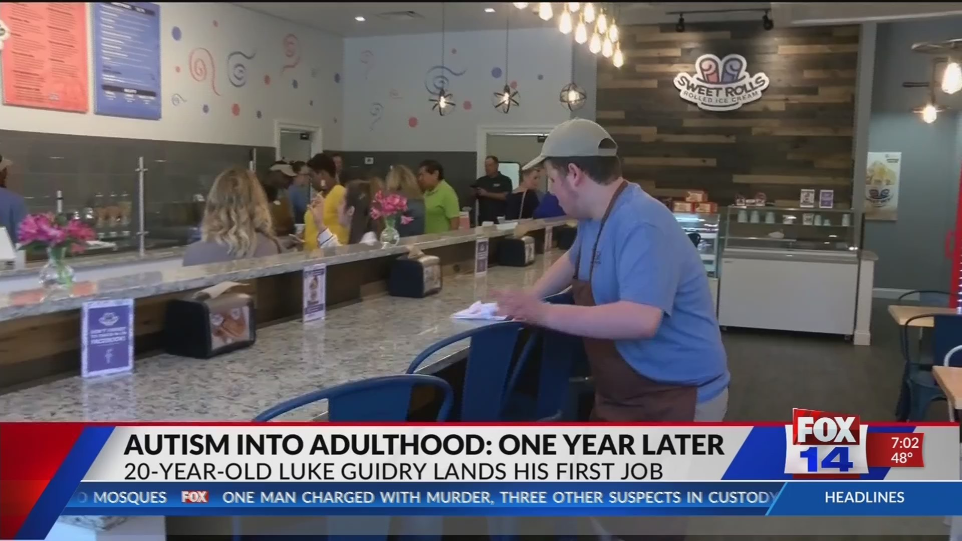 Autism Into Adulthood Luke Guidry Lands His First Job At New Dessert Shop