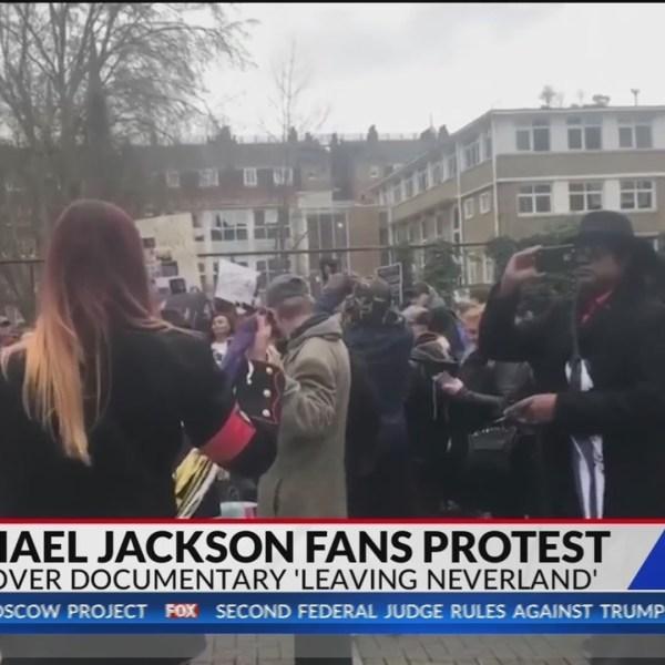 Michael Jackson fans protest