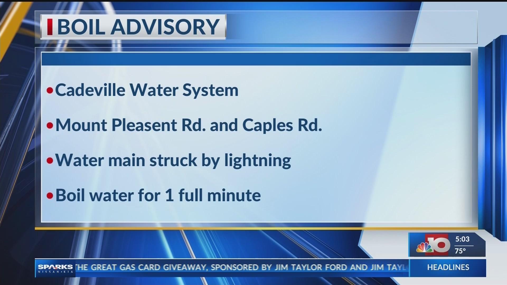 Cadeville Boil Advisory 4/15/19