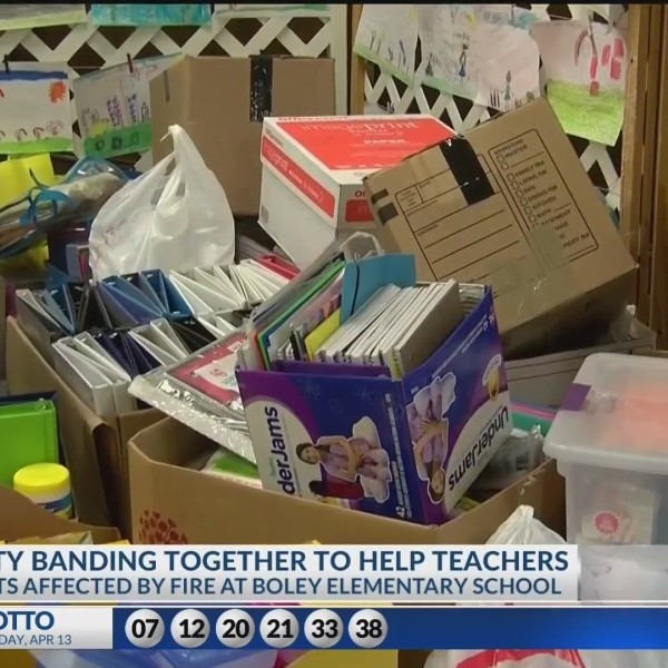 Community rallies together to help Boley Elementary students and faculty