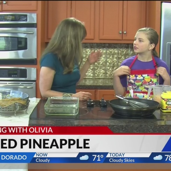Cooking with Olivia: Baked Pineapple