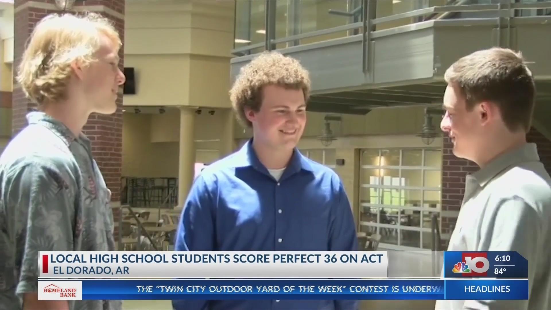 El Dorado High School students receive perfect score on the ACT