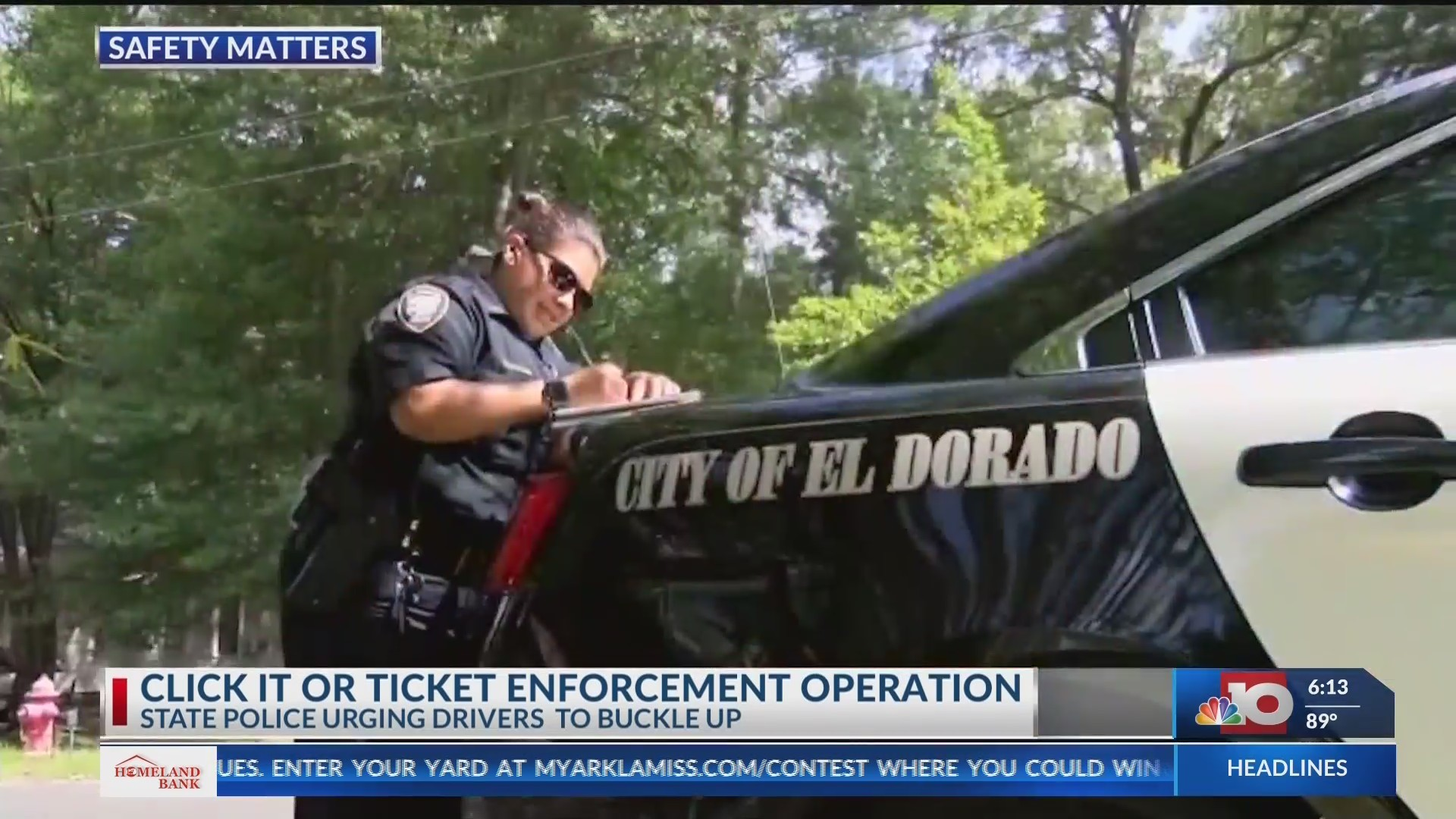 Law enforcement officers will be on stiff patrol making sure motorists are wearing their seat-belts
