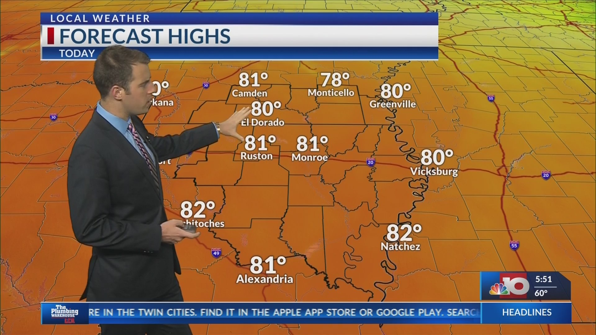 Weather Forecast- Monday, May 13th