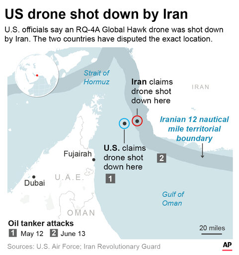 US IRAN DRONE SHOT