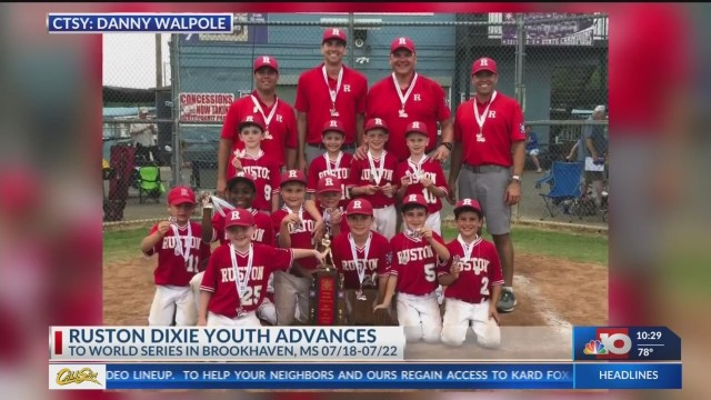 Ruston 7U baseball team advances to Dixie World Series