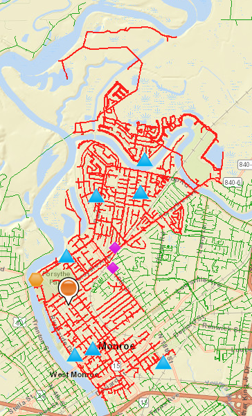 Update: Power has been restored to the Garden District and