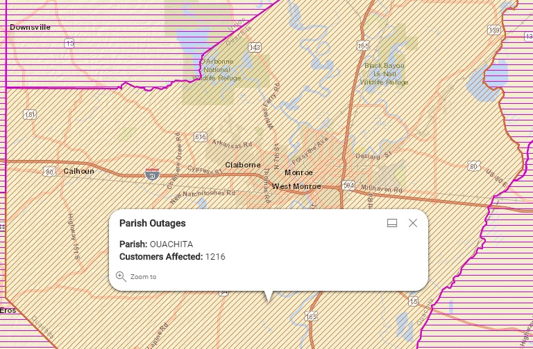 Overnight weather brings power outages to Ouachita Parish | KTVE