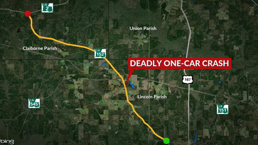 State Police: Unrestrained driver killed in Lincoln Parish