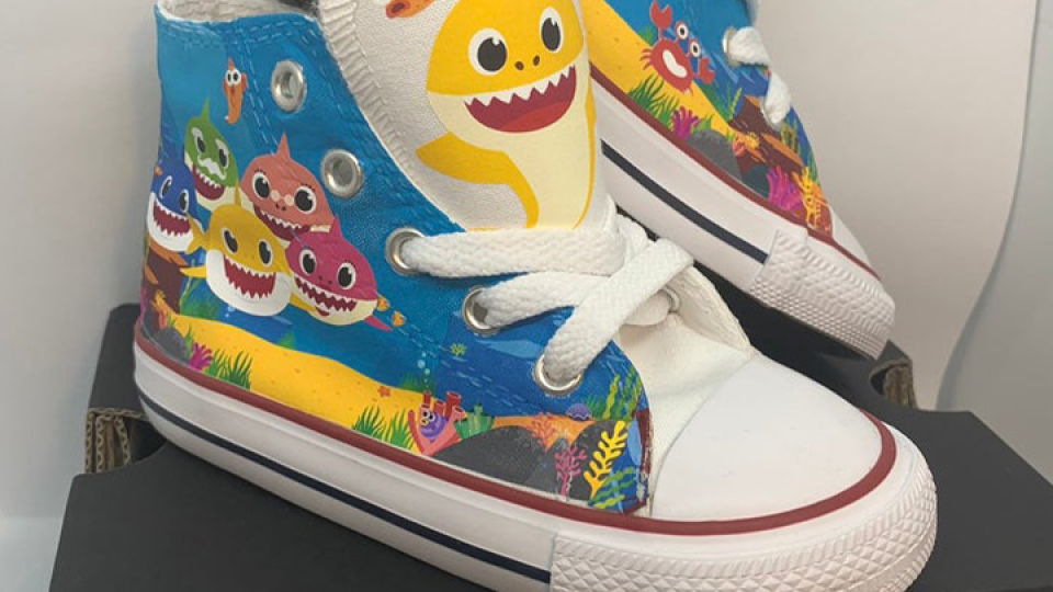 Custom 'Baby Shark' sneakers are selling out like crazy