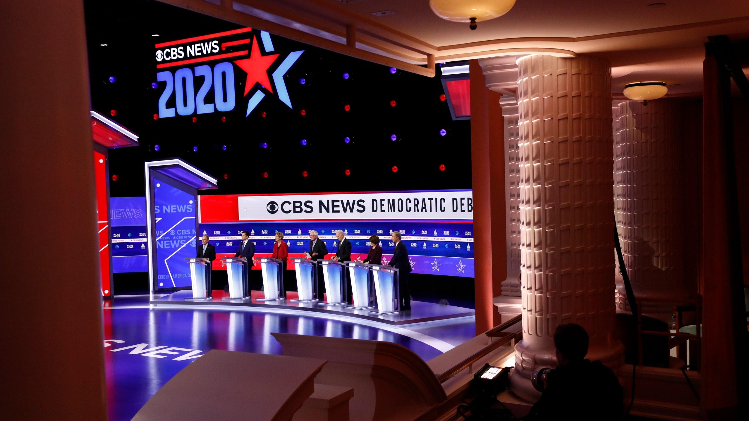 Mike Bloomberg, Pete Buttigieg, Elizabeth Warren, Bernie Sanders, Joe Biden, Amy Klobuchar, Tom Steyer